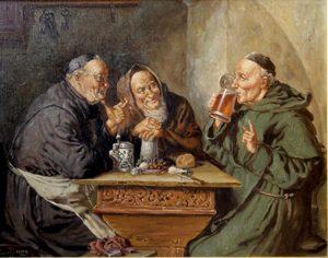 Munkar njuter av klosteröl