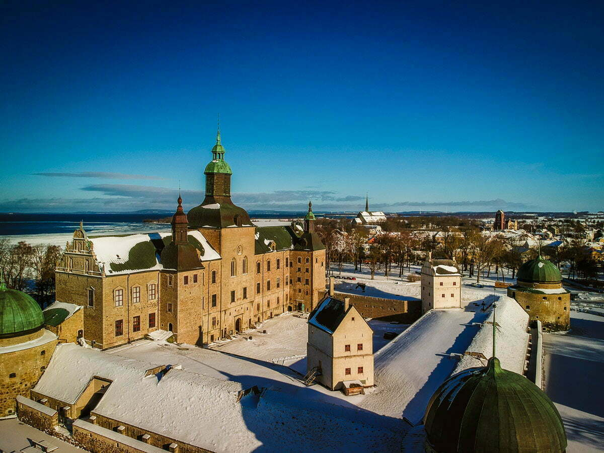 Vadstena slott vinter